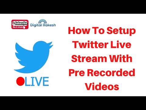 How To Setup Twitter Live Stream With Pre Recorded Videos