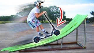 ELECTRIC SCOOTER JUMP!!