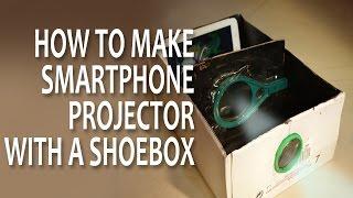 $2 Smartphone Projector With Shoebox( DIY)