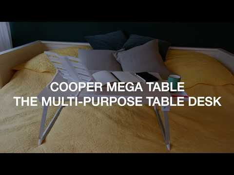 Cooper Mega Table XXL Folding Table Stand for Couch, Bed, Desk & Floor
