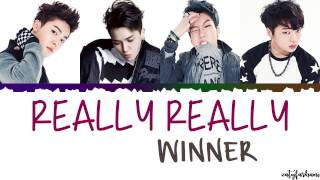 WINNER (위너) - REALLY REALLY Lyrics [Color   - YouTube
