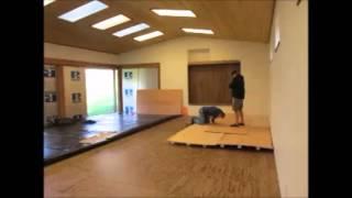 sprung floor construction