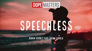 Robin Schulz feat. Erika Sirola - Speechless (Audio)