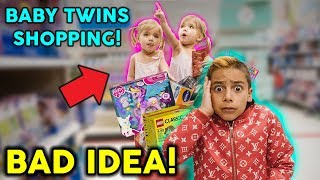 SHOPPING With BABY TWINS! *DISASTER* | The Royalty Family