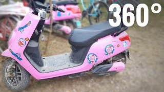 360 video E-Scooter Electric Motorbike China Google Cardboard VR Box 4K