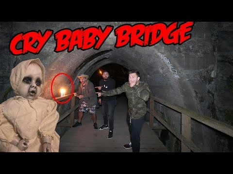 DONT GO TO A HAUNTED CRY BABY BRIDGE OVERNIGHT OR THE CRY BABY WILL APPEAR! | WE HEARD THE CRY BABY!