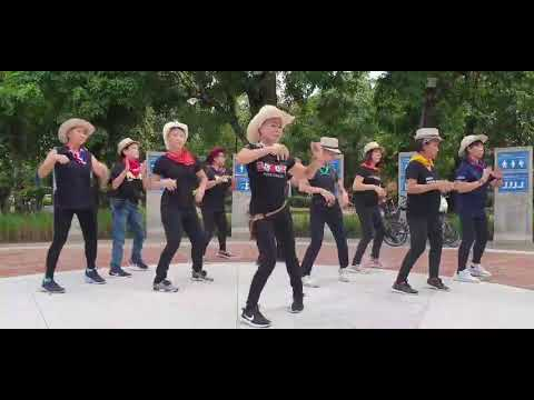 Achy Breaky Heart Line Dance by Andy S Thailand