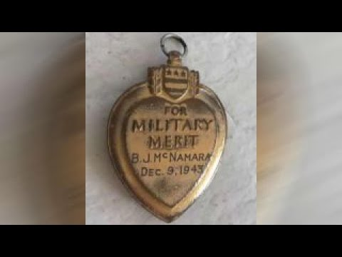War hero's family reunited with missing Purple Heart