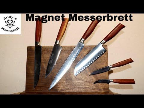 🔪 Magnetisches (Neodym) Messerbrett selber bauen aus Nussbaum - diy