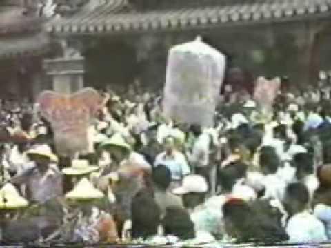 70年代北港媽祖遶境出廟 農曆三月十九 北港迎媽祖 - 北港迎媽祖