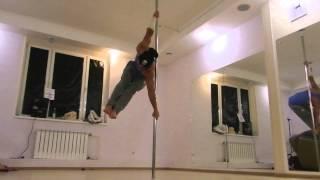 Crazy pole dance on Static pole by Марк Буханцов