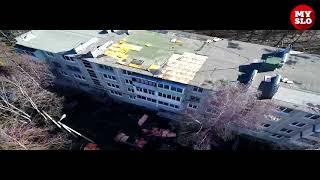 Видео с квадрокоптера: Сорвало крышу жилого дома в Тульской области