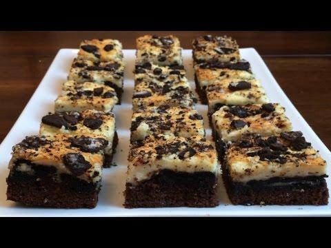 How to Make Oreo Brownie Cheesecake Bars -Episode 18 Baking with Ryan