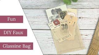 FUN DIY Faux Glassine Bag!
