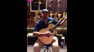 C And M Music Center Hattiesburg Mississippi - D Chord On A Taylor Guitar