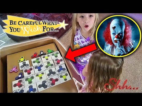 Creepy Clown Mails Itself to us Disquised as Fidget Spinners Fan Mail (Skit)