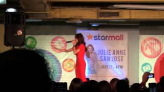 Right Where You Belong - Julie Anne San Jose in Starmall Shaw