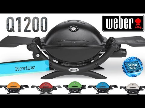 Weber Q1200 Liquid Propane Grill BBQ Review, Includes Optional Cart 6557 Q