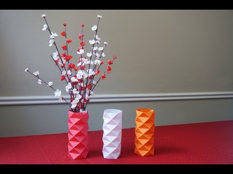 How to make a paper vase sleeve