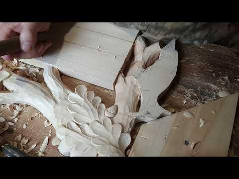 Лесное чудо.Резьба по дереву. Изготовление необыкновеннои  вешалки своими руками.