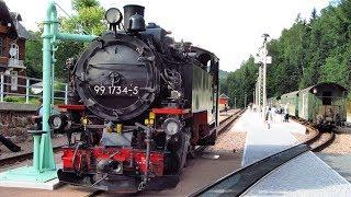 """Parním vlakem po obnovené úzkokolejce do Kipsdorfu (Kruš. hory) + tendenční třebíčský """"experiment"""""""