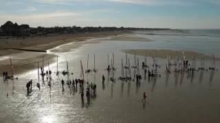 Char à voile, plage d'Hermanville-sur-mer