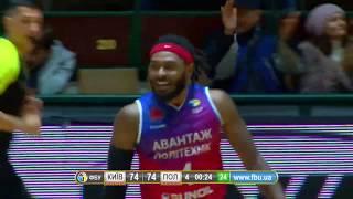 Сокрушительный данк Крутоуса – в видеообзоре матча Киев-Баскет – Политехник