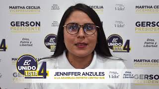 Jenniffer Anzules, Candidata Asambleísta del Ecuador 2021.