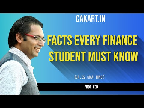 [Hindi] Imp Facts every CA CS CMA & finance student must know - Success ki baat Prof Ved