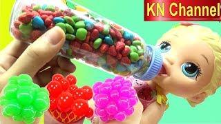 BABY ALIVE DOLL Ở NHÀ 1 MÌNH | TRỨNG CHOCOLATE SLIME BALL Đồ chơi búp bê của Bé Na KN Channel