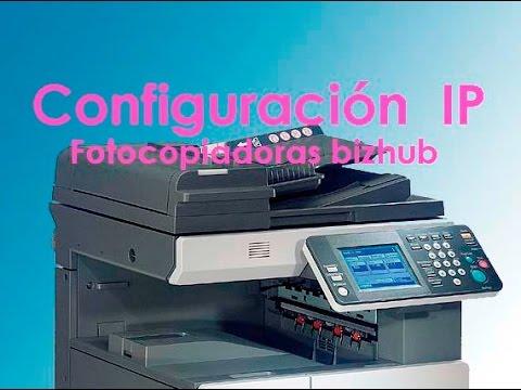 [TUTORIAL] Como configurar IP bizhub 200/250/350 bizhub 222/282/362