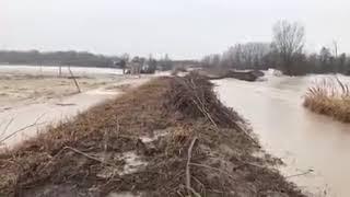 Esondazione Fiume Reno - BOSCHETTO ARGELATO TREBBO DI RENO Argine Rotto 02/02/2019 - Emilia Romagna