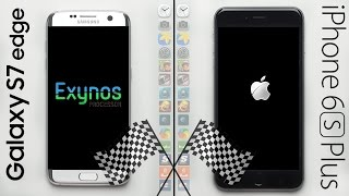 Galaxy S7 Edge (Exynos) vs. iPhone 6S Plus Speed Test! (REMATCH)