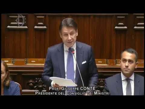 L' INTERVENTO DEL PRESIDENTE GIUSEPPE CONTE ALLA CAMERA DEI DEPUTATI
