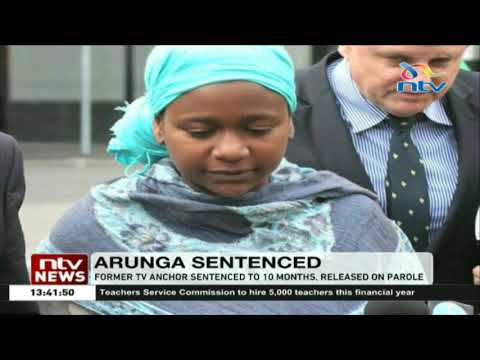 Former TV anchor, Esther Arunga sentenced to 10 months, released on parole
