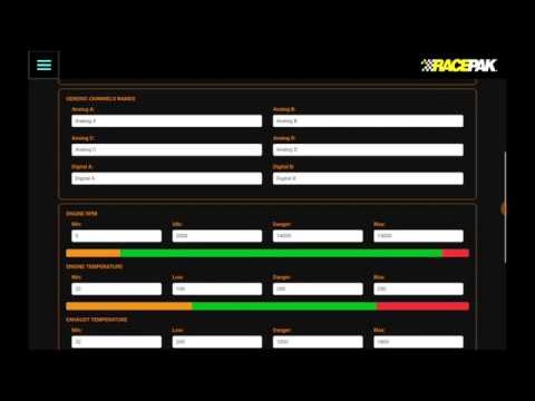 Racepak D3 Settings Part 2 & Sensors Part 1