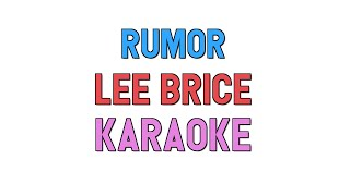 lee brice rumor lyrics - मुफ्त ऑनलाइन