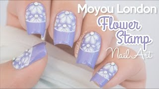 Moyou Flowers Stamp Nail Art || using the 'Clear Jelly Stamper' by Born Pretty Store