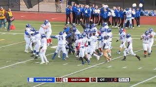 Highlights and interviews: Waterford beats East Lyme in OT 35-34