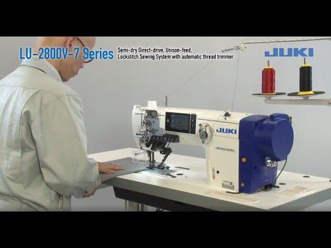 JUKI LU-2800V-7 Series Semi-dry Direct-drive, Unison-feed, Lockstitch Sewing System