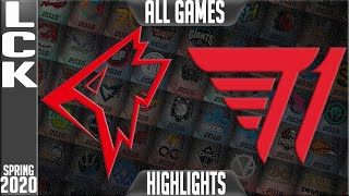 T1 vs GRF Highlights ALL GAMES | LCK Spring 2020 W7D3 | T1 vs Griffin