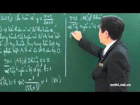 Chương 1-Bài 6-Tiếp tuyến và tiếp xúc (p1)
