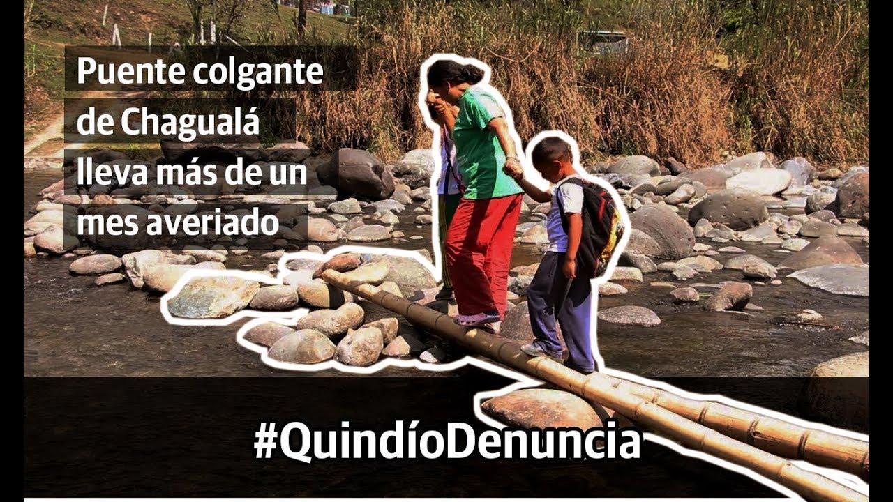 Puente colgante de Chagualá, más de un mes averiado