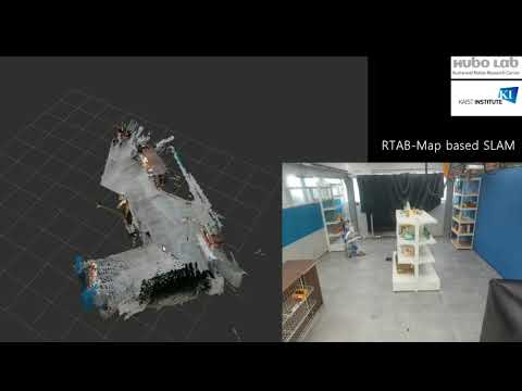 RTABMAP 3D mapping on mobile robot with Kinect 360 - first
