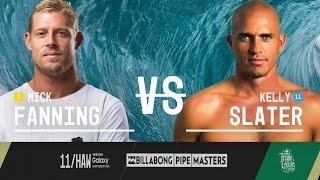 Mick Fanning Vs. Kelly Slater - Billabong Pipe Masters 2015 Quarterfinals