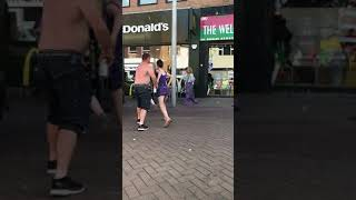 Your My Husband & She's Your Slag. The Sunny Weather Making People Go Crazy In Rhyl.