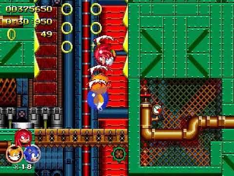 Sonic the Hedgehog 2 Heroes Metropolis Zone 1 (Knuckles)(Tails)(Sonic)