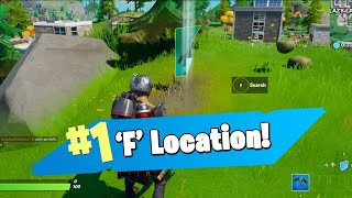 Where to FIND the LETTER 'F' in FORTNITE CHAPTER 2!