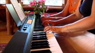 Bee Gees - Woman in Love - для фортепиано в 4 руки