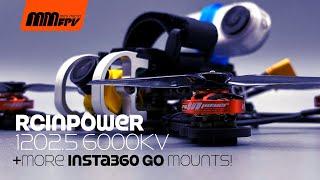 RCINPower 1202.5 6000kV motors + MORE Insta360 GO Mounts!